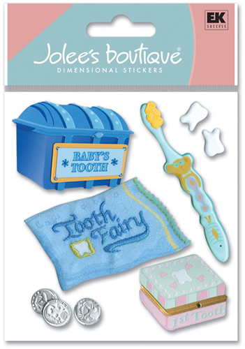 Adesivo para Scrapbook Baby\'s 1 St Tooth