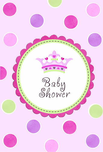Chá de bebê menina convite chá de bebê menina little princess