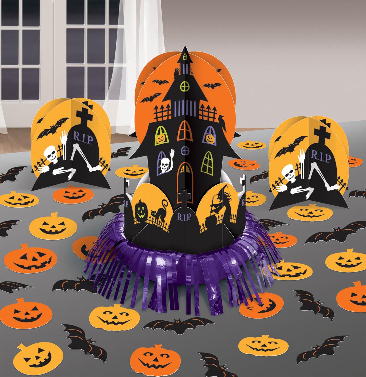 Kit Enfeite de Mesa Halloween Halloween Decoraç u00e3o Artigos para Festas Party City -> Decoracao Para Mesa Halloween