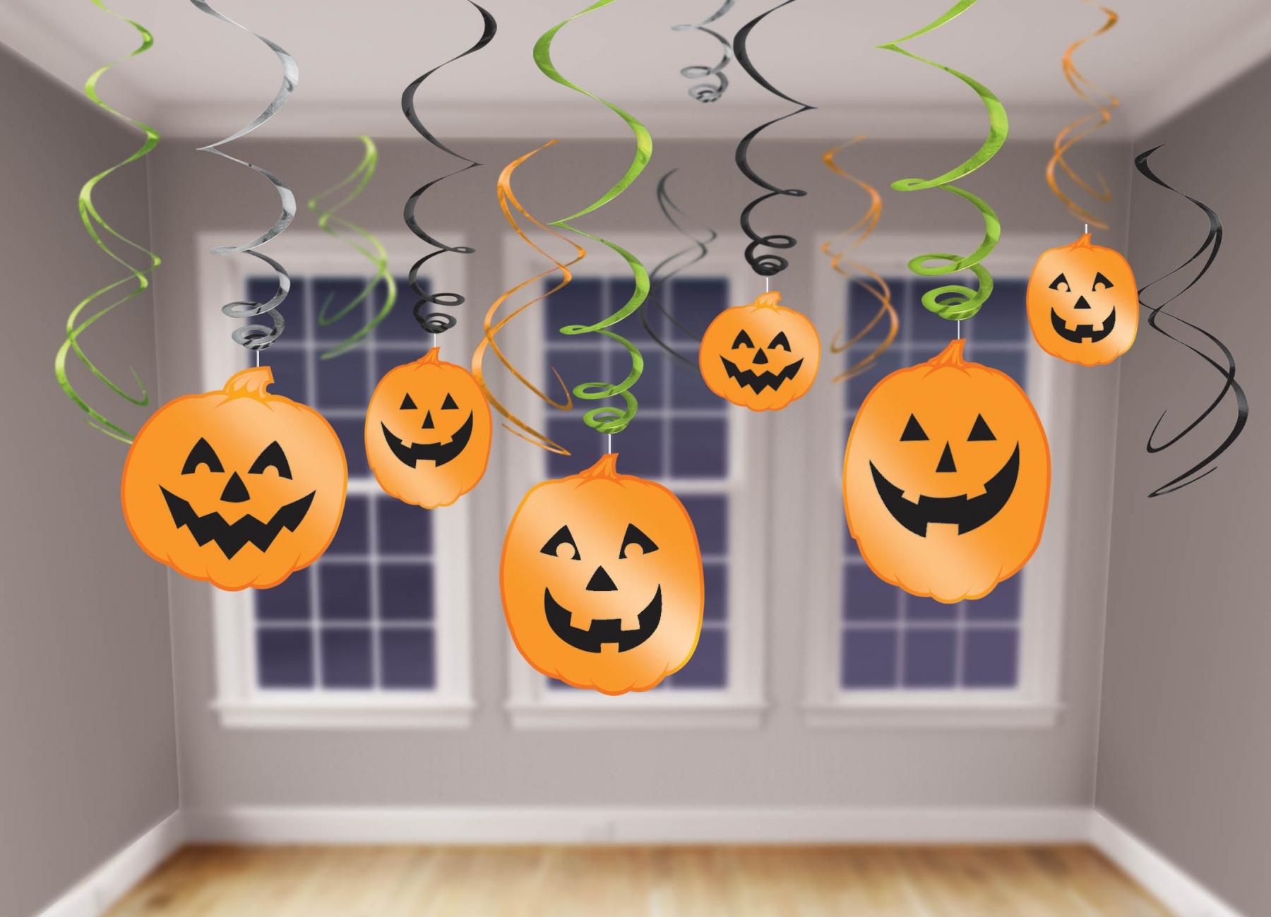 Enfeite para Teto Abóboras Halloween Decoraç u00e3o Artigos para Festas Party