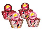 Cupcake Wrappers com Enfeite Minnie-Red